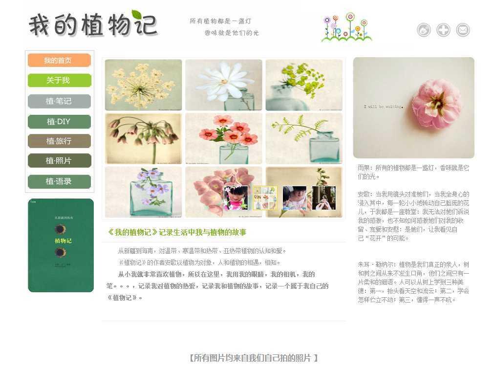 获奖作品植物记需定制,网页静态页html切图下载