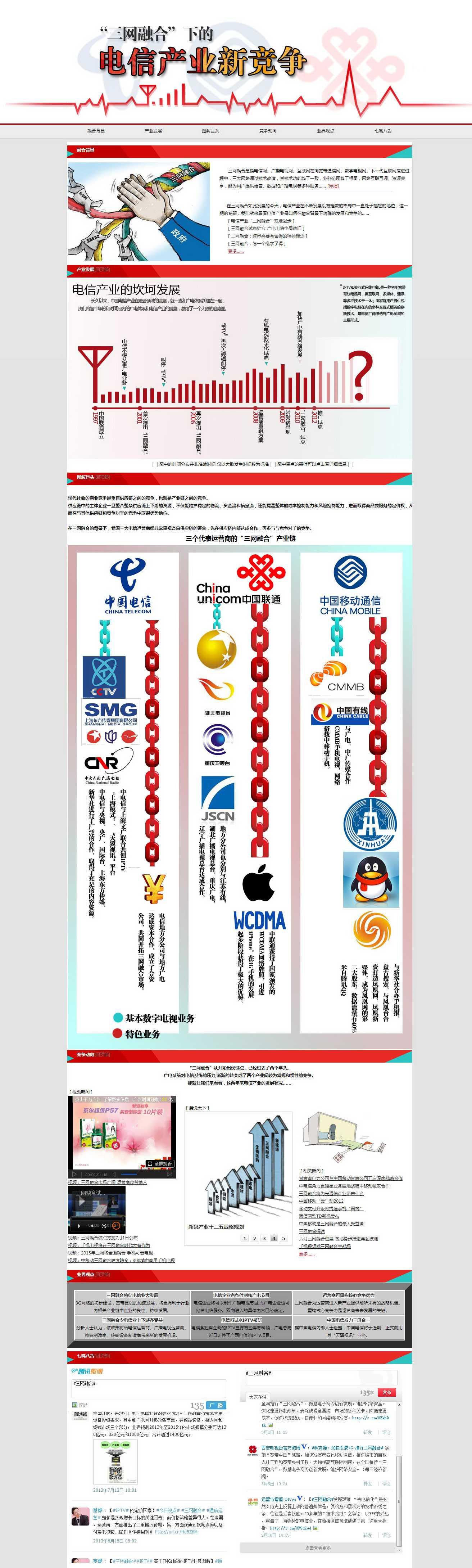 电信产业竞争专题,网页静态页html切图下载